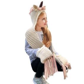 Niños Unicornio Invierno Sombreros De Punto Earflap Hood. 1bc16bee27a