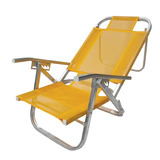 Cadeira Praia Reclinável 5 Posições Diversas Cores Botafogo
