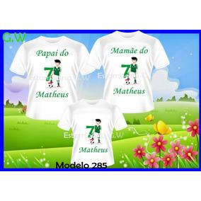 b835fac31d Camiseta Aniversario Futebol - Camisetas e Blusas no Mercado Livre ...
