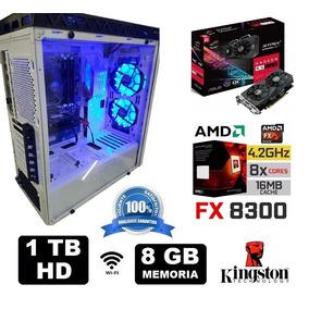 Cpu Gamer Amd Fx8300 8gb Hd 1tb Vga Rx560 4gb F.500w Wifi