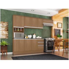 Armário De Cozinha Completa Poliman Móveis Paris Com Balcão