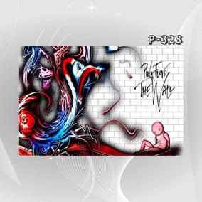 Poster Pink Floyd Musica Wall Jcr Moon Dark Rock Bandas Deco