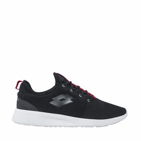 Tenis Casuales Lotto Color Negro Textil Im607 A