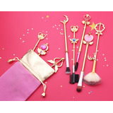 Set Brochas De Maquillaje Sailor Moon Anime Calidad Pro