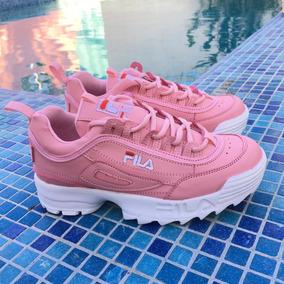 Tenis Fila Disruptor Mujer Dama Rosa Moda Envio Gratis