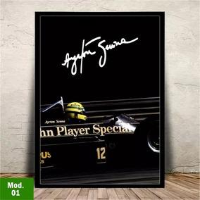 Quadro Ayrton Senna Moldura E Vidro - 45x35cm #18