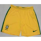 ccc3304d798cf Calção Nike Seleção Brasileira Amarelo 2016 Jogador Vapor Fg