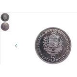 Monedas De 5 Bolivares Fuerte Venezolano Año 1977