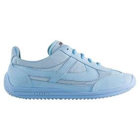 Tenis Mujer Marca Panam Mod 10259 Azul Cielo