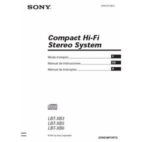 Manual De Usuario Sony Lbt Xb3 Xb5 Xb6 Encadernado Completo