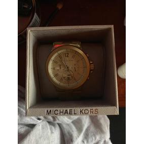 Reloj Para Caballero Mk Chapa De Oro Lexgintong