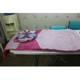 Saco De Dormir Infantil Rosa Borboleta Com Ziper Bag Sacola
