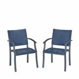 Set De 2 Sillas Para Exterior Home Styles Azul Y Gris
