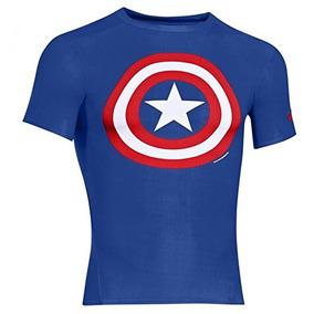 Under Armour Playera Capitán América Para Hombre, Color Azul
