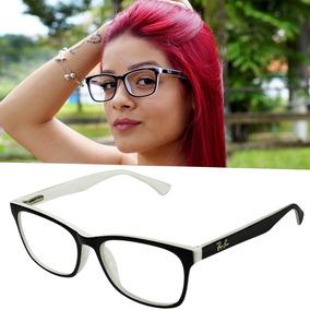 Óculos Armação Grau Quadrado Feminino Mulher Rayban Geek Lan 47f3d0550e
