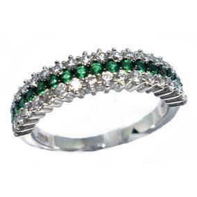 Meia Alianca Rodio Zirconia - Anéis com o melhor preço no Mercado ... e0ee8b1dfb