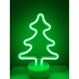 Lampara Led Neon Arbol Navidad Decoración Moderna