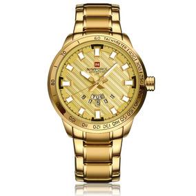 Relogio Masculino Dourado Banhado Em Ouro 18k Original