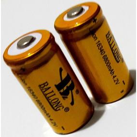 3 Bateria Recarregável Cr123a Li-ion 16340 3.7v/4.2v 5800mah