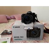 Camara Canon Eos 70d / 1.700 Obturaciones 10/10 Dual Pixel