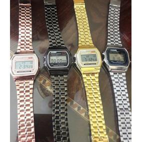 Lote 6 Relojes Retro Metalicos Led Vintage Mayoreo Proveedor