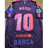 e661ecbb6a02d Camisa Barcelona Roxa 2017 Messi - Camisas de Futebol no Mercado ...