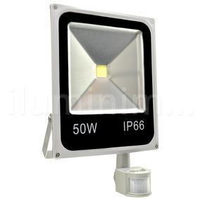 Refletor Led 50w Branco Frio Sensor Presença E Movimento