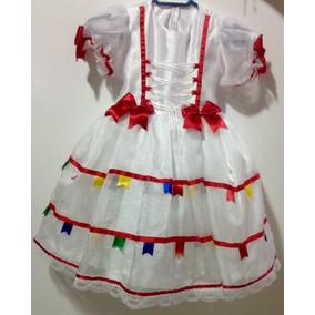 Vestido De Noiva Com Tiara No Tema Junino P  Criança 2 Anos a7223a926e0