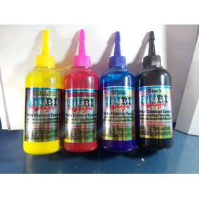 Kit 4 Cores De Tinta Para Papel Couchê 400ml