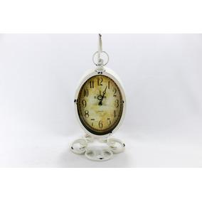 Relógio Metal Vintage Retro De Mesa Pendente (pêndulo) 22x16