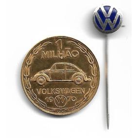 Medalha Ouro Comemorativa Fusca 1 Milhão De 1970