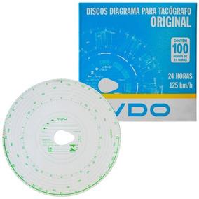 Disco Diagrama Tacógrafo Diário 125km 24h 100 Unidades Vdo