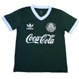 Camisa Palmeiras Decada De 80 Patrocínio Coca - Verde