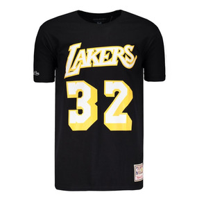 995ab3e08f Camisa Mitchell   Ness Nba Los Angeles Lakers Preta