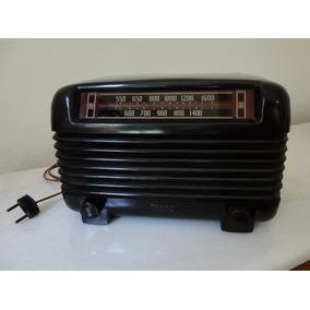 Antigo Rádio Philco Valvulado Anos 40 Baquelite Funcionando