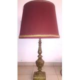 Hermosa Lámpara De Bronce Antigua