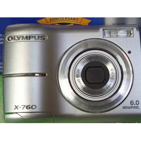 Câmera Fotografica Olympus X-760 + Recarregador + 4 Pilhas