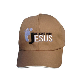 Boné Walking With Jesus Evangélico Igreja  0134-mr-mr a35521f2166