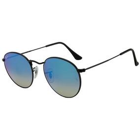 bed9825637c33 Oculos Ray Ban Round Dobrável Rb3447 Azul - Óculos no Mercado Livre ...