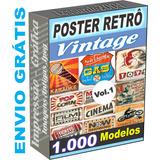 Imagens Vetor Posters Vintage Retrô Antigos Corel Vetores