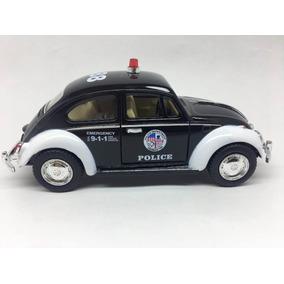 Miniatura De Metal Fusca Da Polícia Escala 1:32 Ano 1967