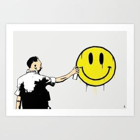 Pôster Soldier Smiley, Arte Decoração Print Arte De Rua