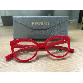 73b5d25d140f2 Armacoes Femininas Vermelhas Fendi - Óculos no Mercado Livre Brasil