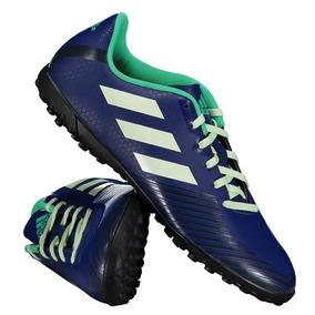 Chuteira Society Adidas Azul Agua - Chuteiras no Mercado Livre Brasil e99ac052ac1bf