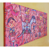 Cuadro Moderno, Arte Mexicano, 70x142 Cm