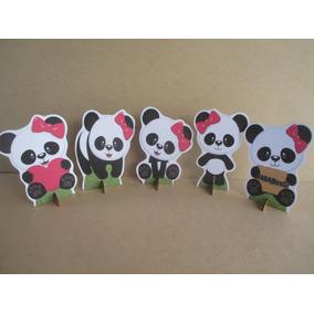 Kit 5 Display Panda Menina, Decoração De Mesa