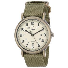 68da28875d14 Timex Unisex T2n894 Weekender Verde Verde Oliva De Nylon Co