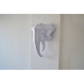 Cabezas De Animales 3d Decorativas Elefante Tamaño 72x69x30