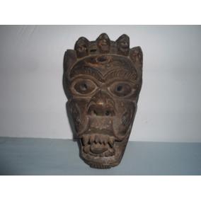Antigua Artesania Mascara Africana Madera Trivial (2679)