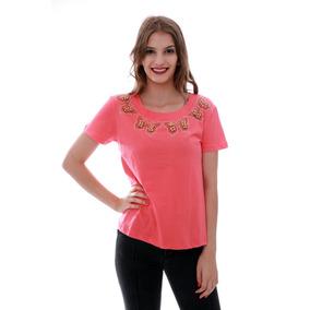 Blusa T-shirt Feminino Com Borboletas Brilhantes Importar 4eba002ef4ad0